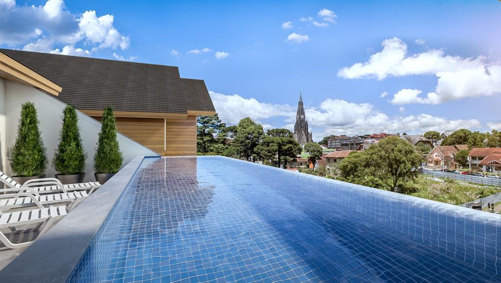 Vista piscina igreja